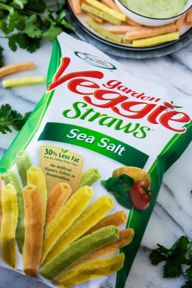 garden veggie straws in bag