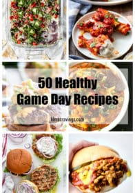 collage for 50 Healthy Game Day Recipes