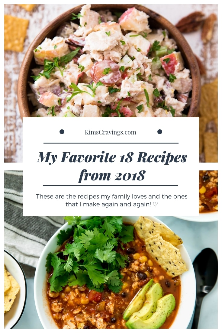 It's here – my top 18 favorite recipes from 2018! These delicious recipes are the ones that I tested to perfection, made for myself countless times, and were my favorite ones to share with all of you. #2018favorites #favoriterecipes #2018favoriterecipes