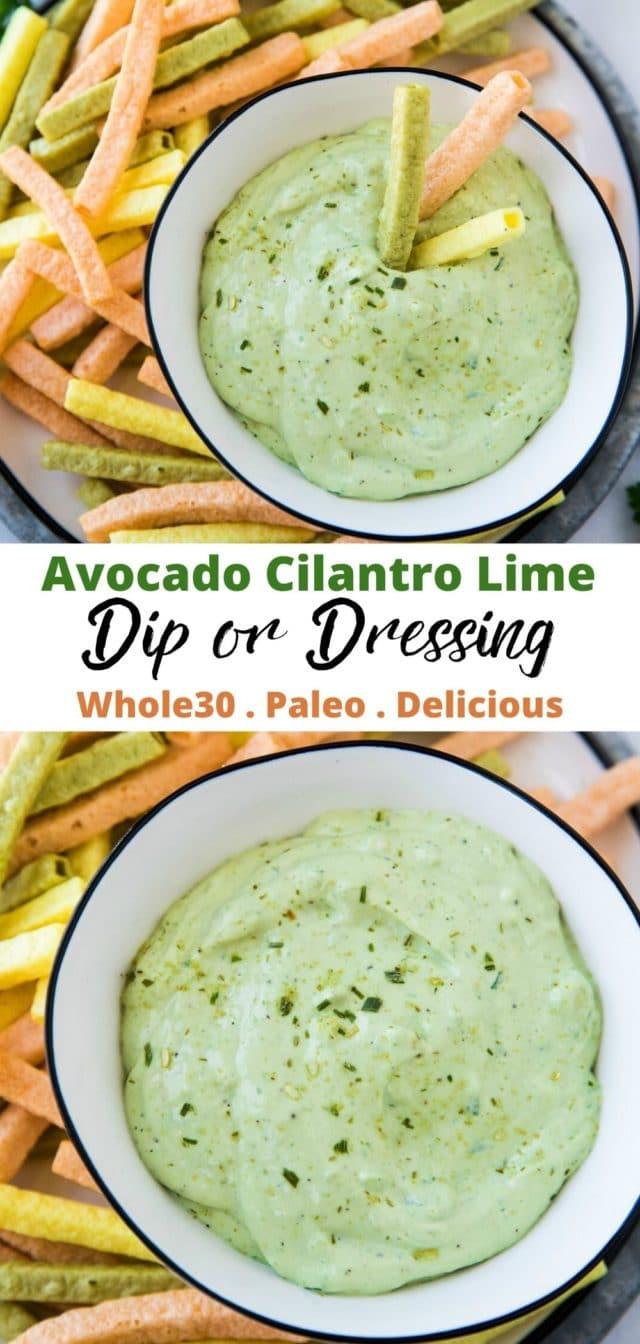 how to make Whole30 avocado cilantro lime dressing