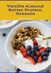 homemade granola served with yogurt and fruit