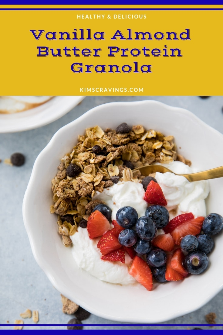 homemade granola served with yogurt and fruit