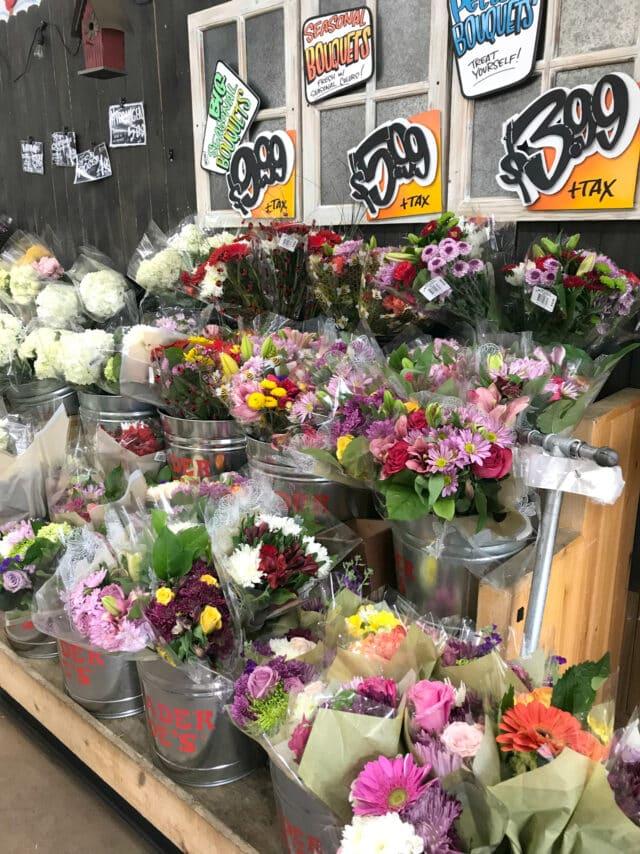 flower section at Trader Joe's