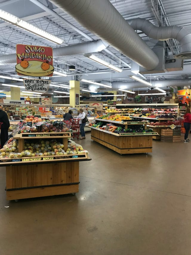 produce department at Trader Joe's in Fort Worth