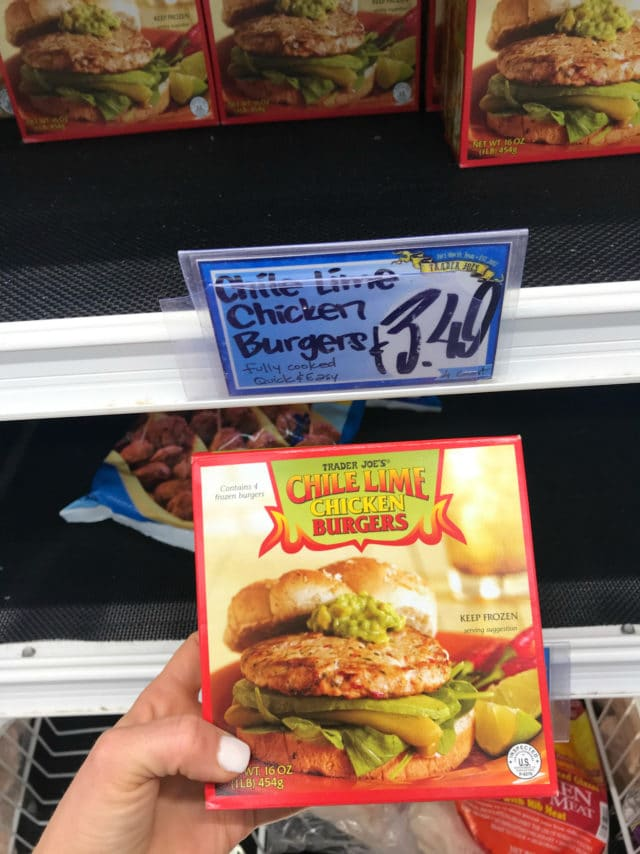 Chile Lime Burgers from Trader Joe's