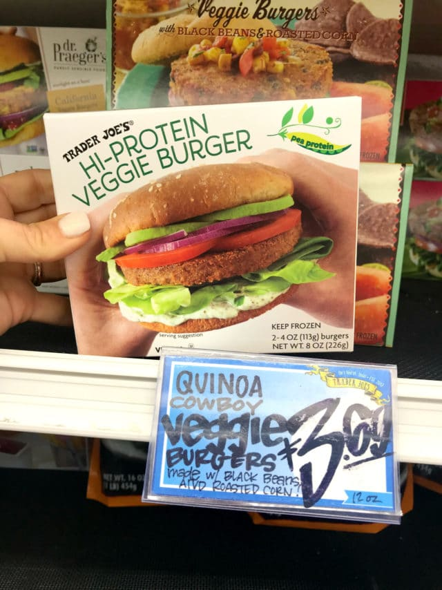 high-protein veggie burger from Trader Joe's