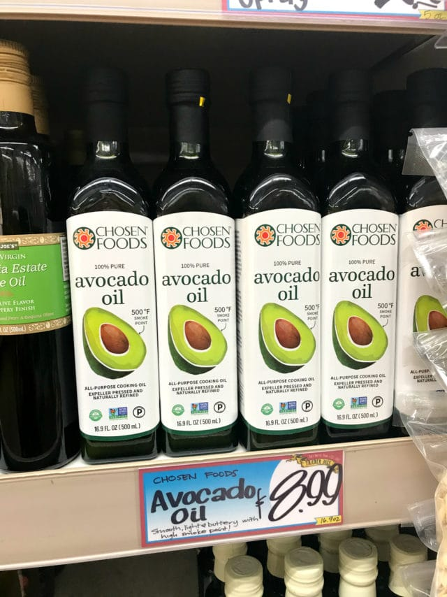 Avocado Oil from Traders Joe's