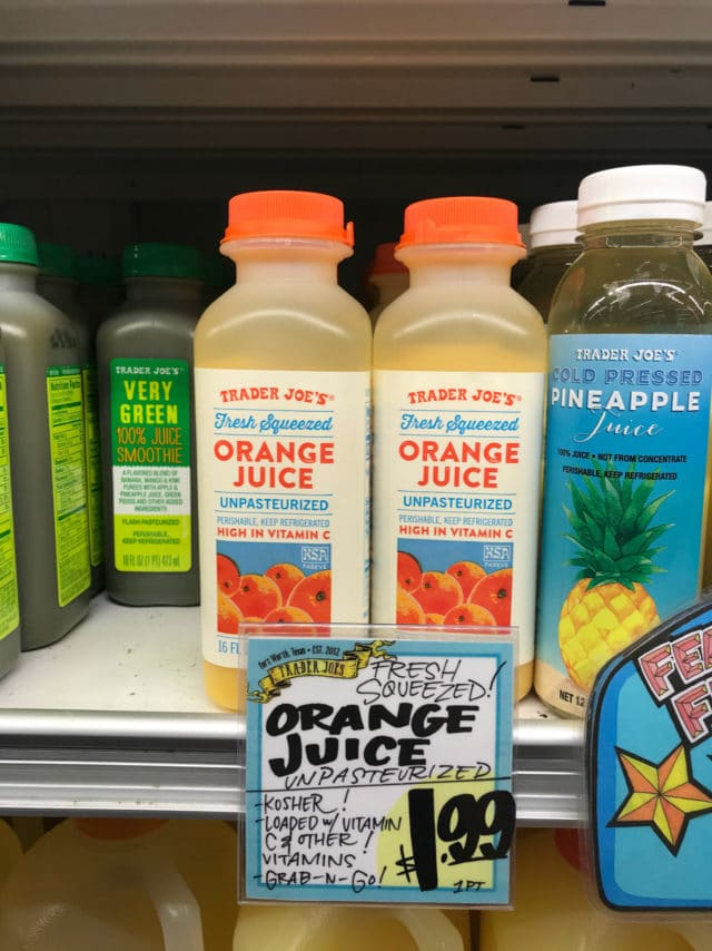 orange juice from Trader Joe's