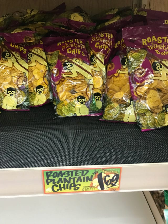 roasted plantain chips from Trader Joe's