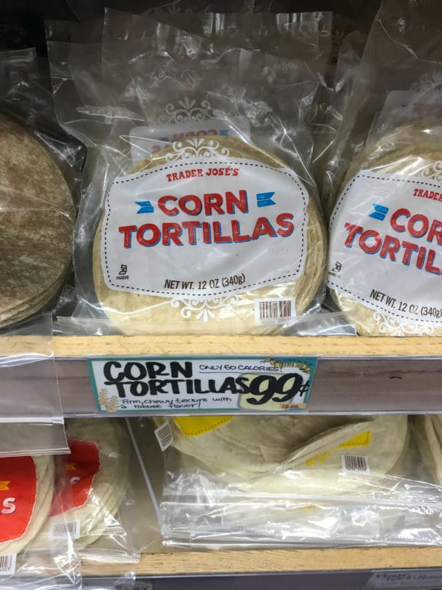 Corn tortillas from Trader Joe's
