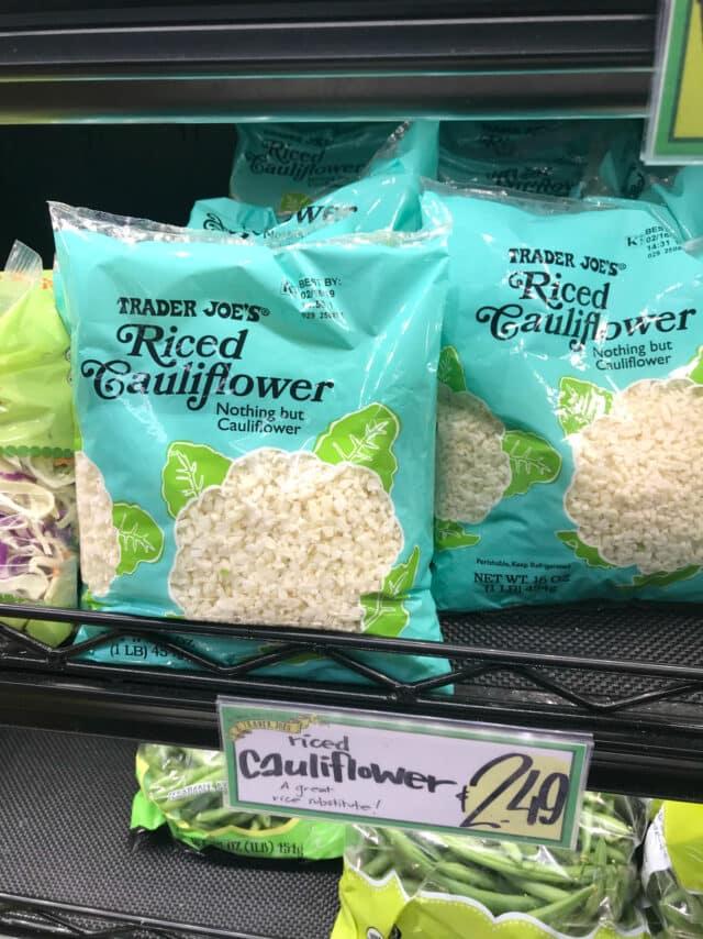 Riced Cauliflower from Trader Joe's