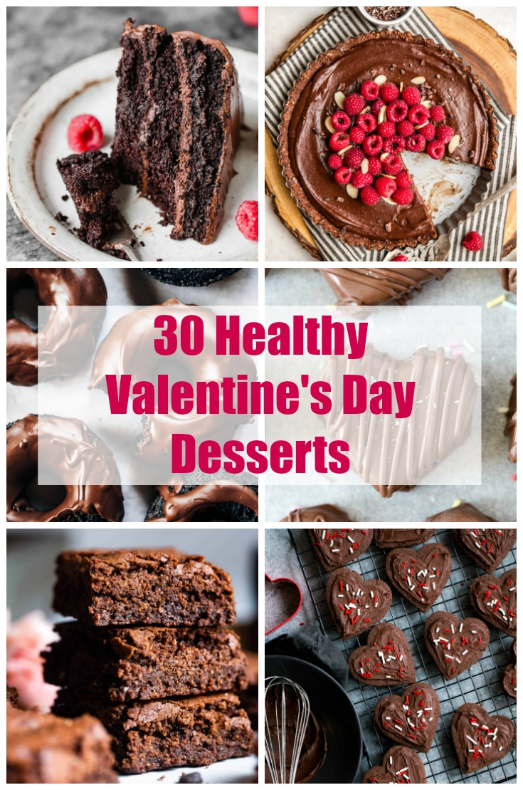 For those of you (like me) who have a huge sweet tooth but still want to stay on the healthier side, I have the perfect solution for you… 30 Healthy Valentine's Day Dessert Recipes! They're full of sweet flavor (and plenty of chocolate!), but they contain NO butter, refined flour or sugar! #valentinesday #healthydesserts #valentinesdaydesserts