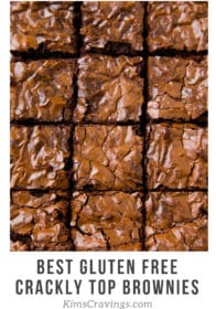 crackly top brownies cut into squares