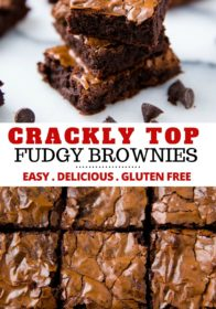 how to make crackly top brownies
