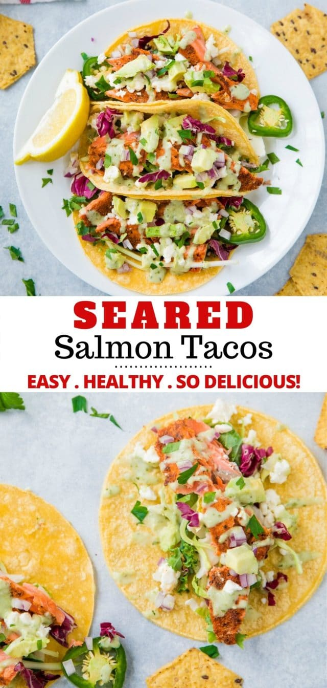 how to make seared salmon tacos