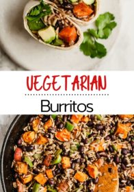 Vegetarian Burritos made with Sweet Potato and Black Beans