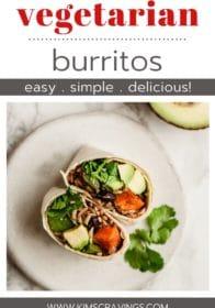 how to make healthy vegetarian burritos