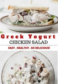 how to make a healthy Greek yogurt chicken salad