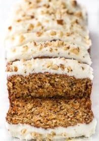 carrot cake bread with cream cheese icing