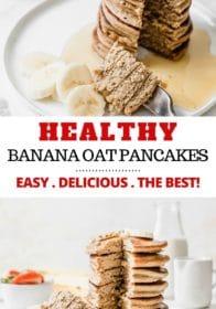 how to make healthy banana oat pancakes