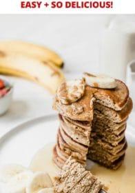 easy banana pancakes in the blender