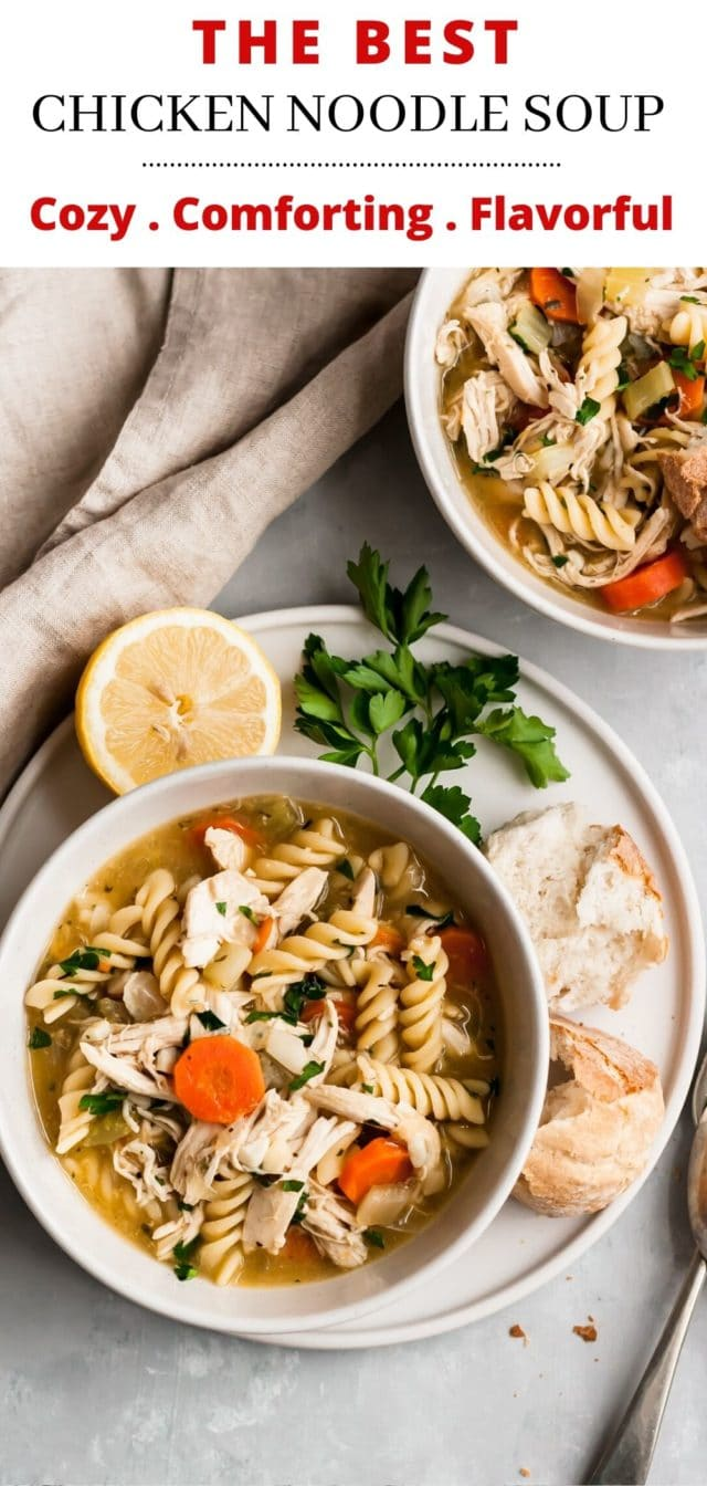 Easy Chicken Noodle Soup Recipe - Stovetop, Crockpot or Instant Pot