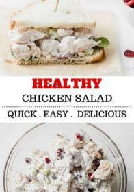 Healthy Chicken Salad with Greek Yogurt