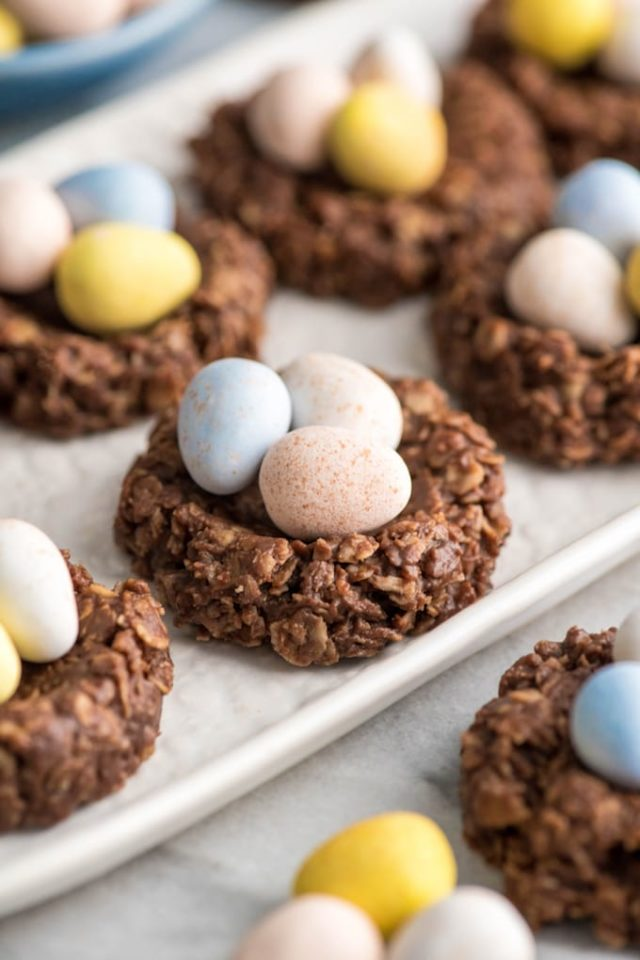 no bake cookies filled with little candy eggs