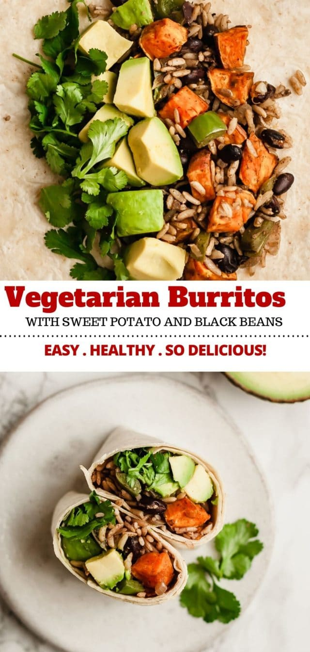 how to make black bean vegetarian burritos