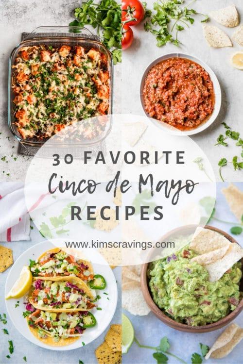 collage of 4 cinco de mayo recipes