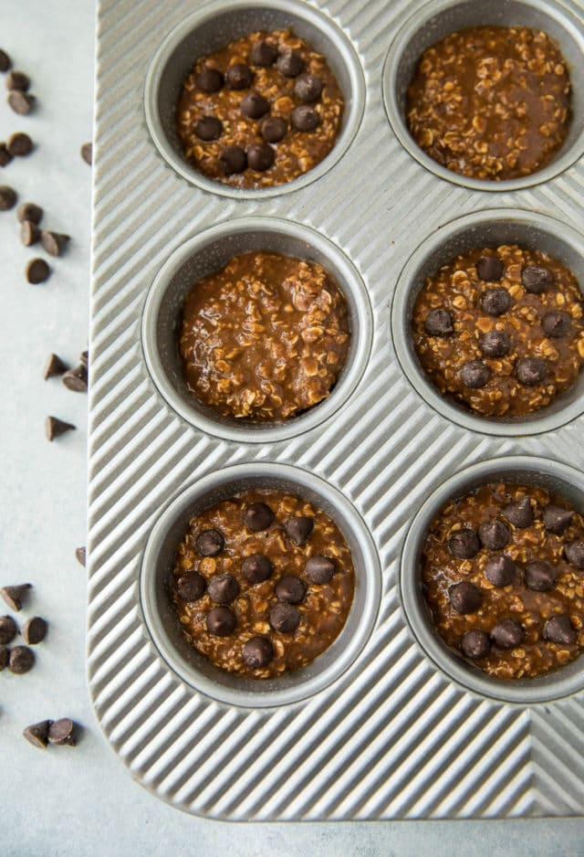 chocolate muffins in a muffin baking pan