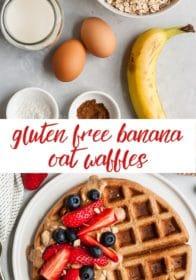 how to make gluten free banana oat waffles