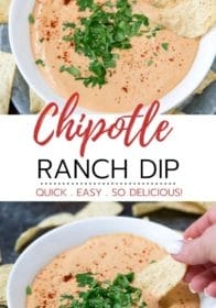 how to make chipotle ranch dip