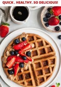 homemade waffles made in the blender