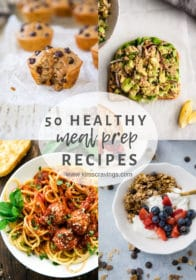collage for healthy meal prep recipes