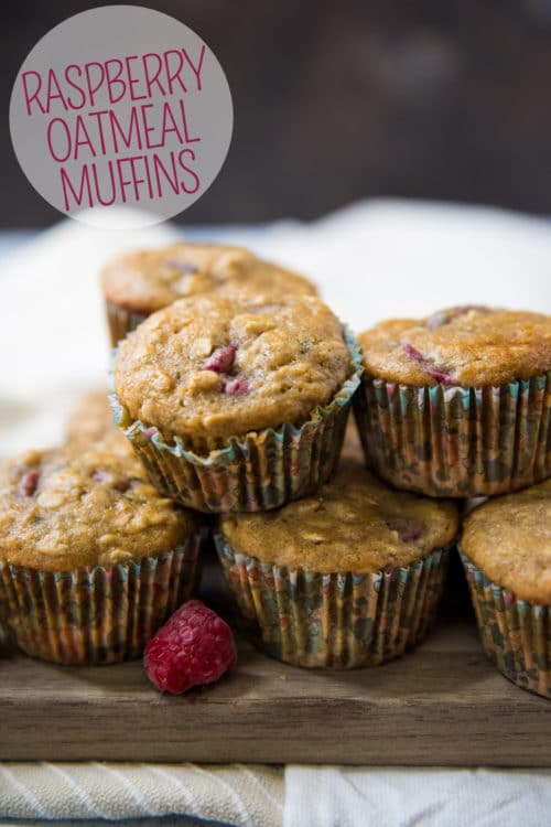 oatmeal muffins stacked one on top of another