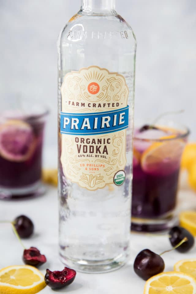 bottle of Prairie Organic Vodka