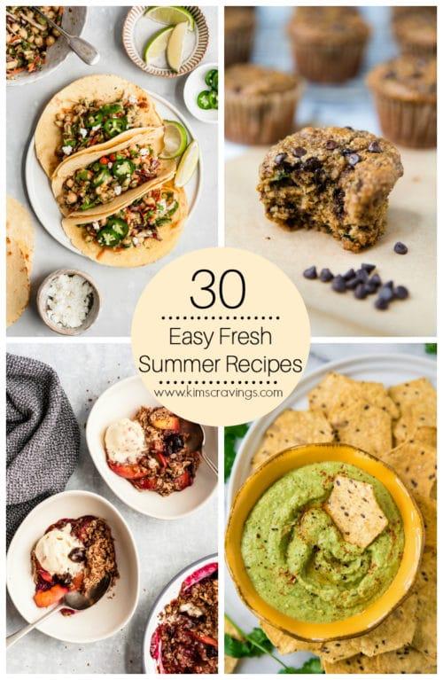 30 easy summer recipes