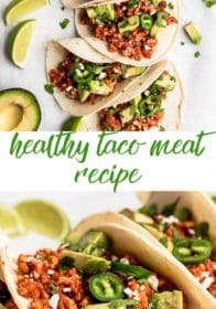 how to make healthy taco meat