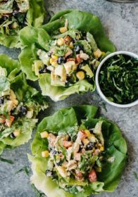 mexican tuna salad lettuce wraps