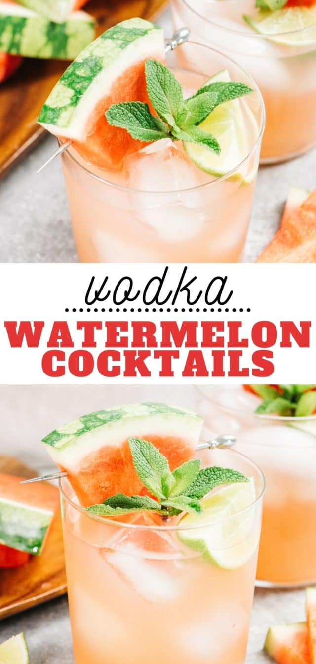 how to make fresh watermelon cocktails