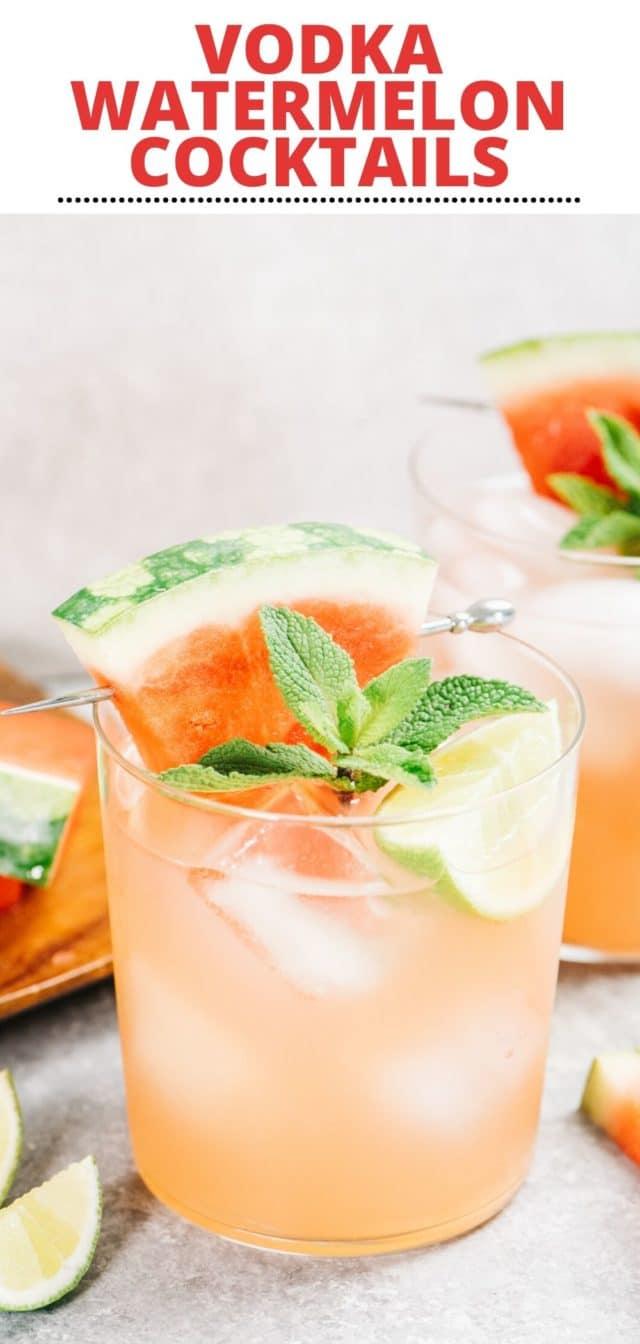 how to make watermelon cocktails