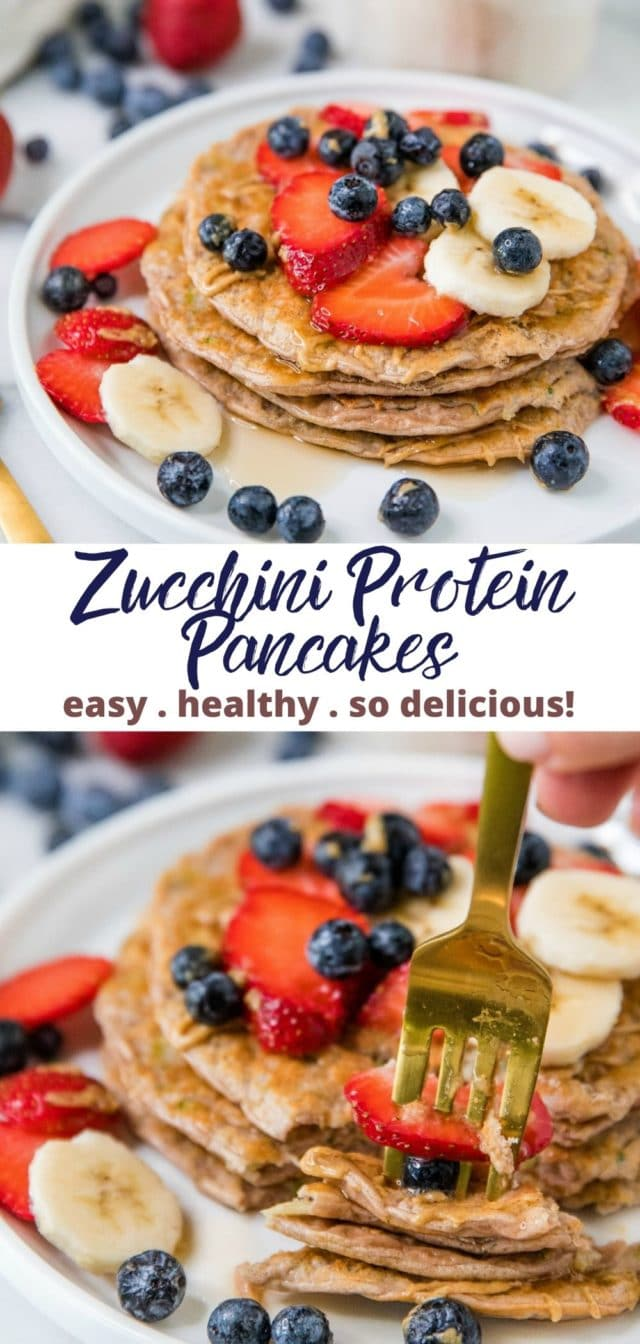 how to make high protein zucchini pancakes