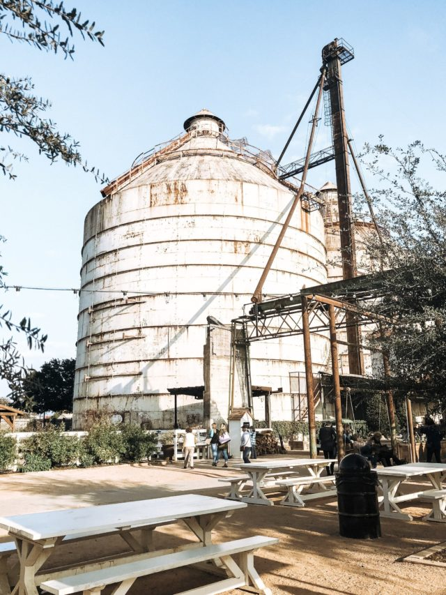 near silos at magnolia market