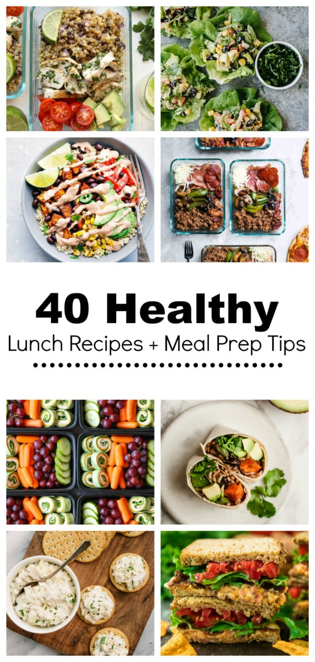 40 Healthy Lunch Recipes Meal Prep Tips Kim S Cravings