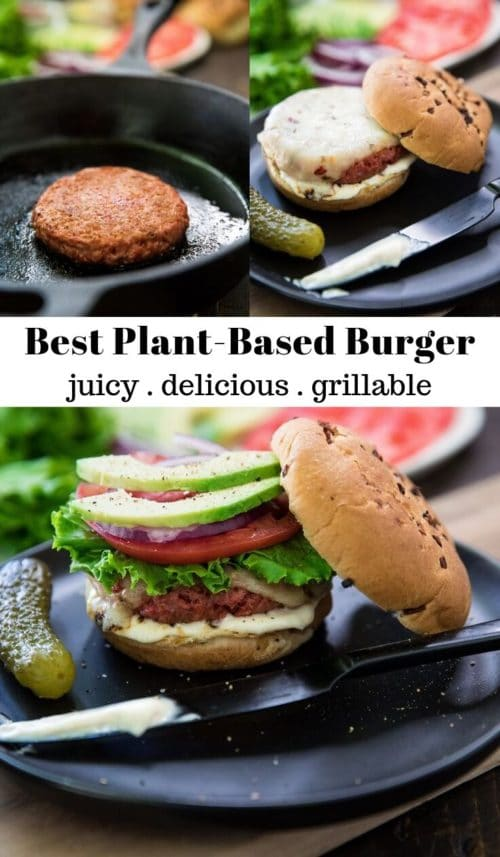 how to cook a plant-based burger