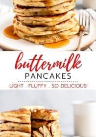 making buttermilk pancakes