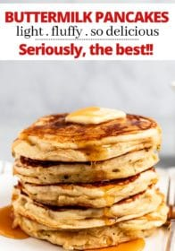 how to make light and fluffy buttermilk pancakes