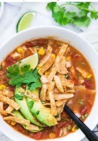 making Crockpot Chicken Tortilla Soup