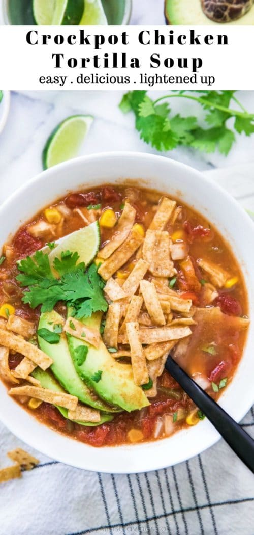 making Crockpot Chicken Tortilla Soup